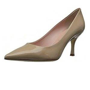 Kate Spade Cream Patent Leather Pointed Heels